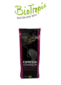 BioTropic Espresso gemahlen Bio